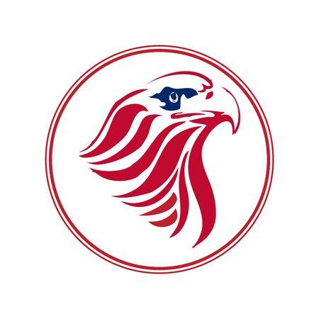 Proud eagle head. Color version Vector illustration.