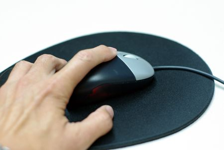 computer mouse and mouse pad