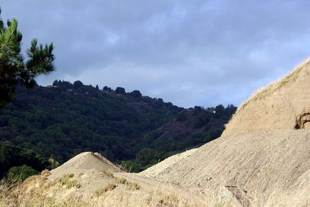 sand quarry: California Hills Stock Photo