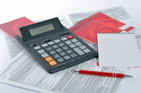 Calculator and documents Stock Photo - 11973210