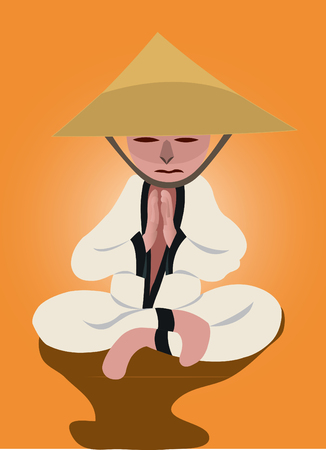 contemplate: A warrior monk meditation in his dreams