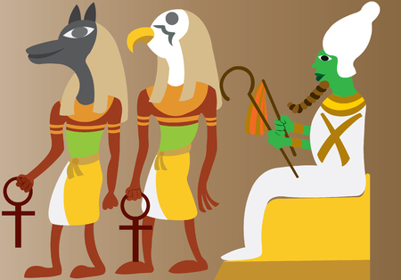 A linear representation of ancient Egyptian gods
