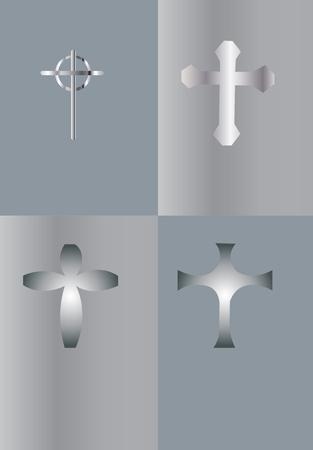 verschillende ontwerpen van het kruis