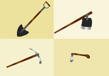 ploughing: tools used for digging soils and ploughing