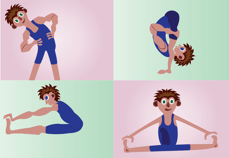 a sample selection of stretching exercises
