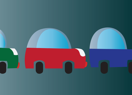overcrowding: cars stuck in a traffic jam,