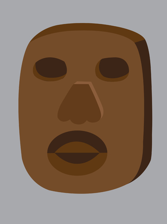 antiquities: a wooden mask of an African tribe,