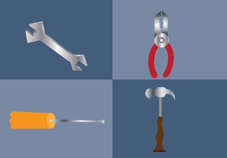 claw hammer: tools used by carpenters in construction and repairs Illustration