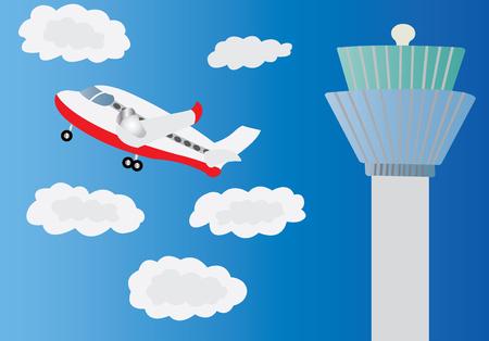 Flying air plane.
