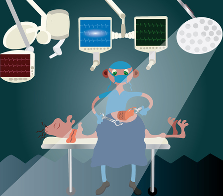 A surgeon doing a surgery.