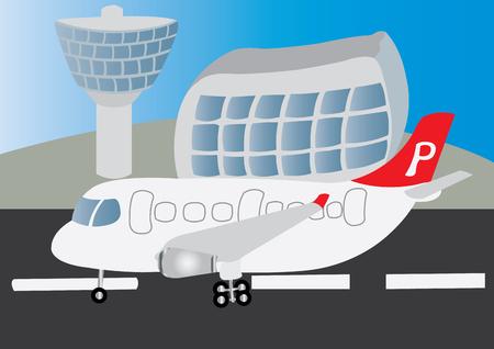 a Passenger Plane Landing at an Airport