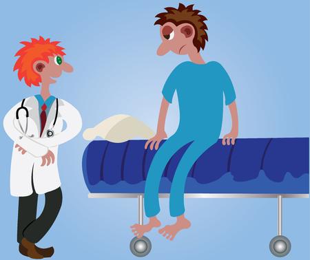Een arts controleert zijn patiënt