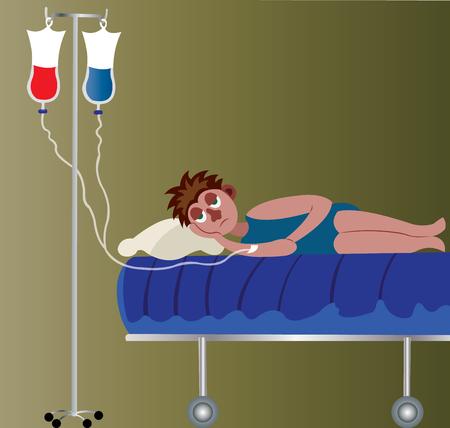 A patient receiving a drip