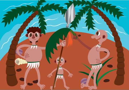 Natives of a cast away Island
