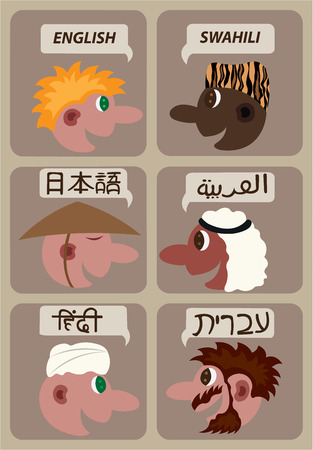 Different languages of the world illustration.