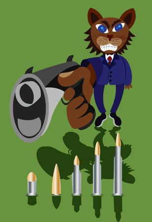 An Angry Fellow Points a Gun
