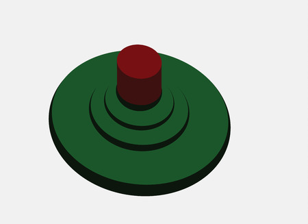 A landmine planted in the ground waiting for its victim Illustration