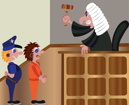 a judge delivering a sentence