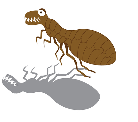 A Flea eager to suck some blood,