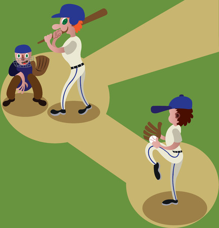a baseball player ready to pitch Illustration
