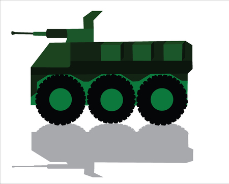 An armoured Combat Vehicle ready for Battle 일러스트