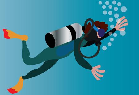 a deep-sea diver beneath the oceans