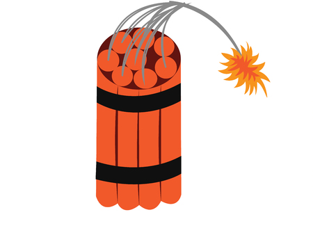 A lit dynamite ready to explode Illustration