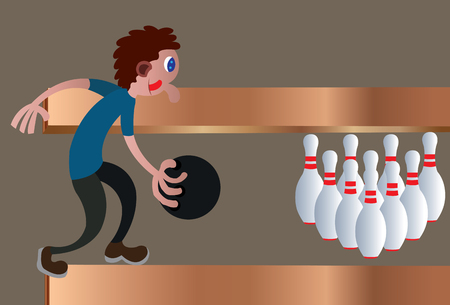 A bowler ready to throw a bowl,