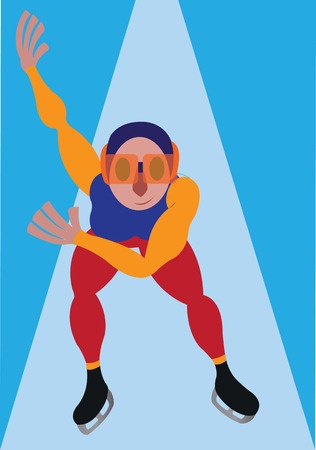 a speed skater on the move in an Olympic Game,