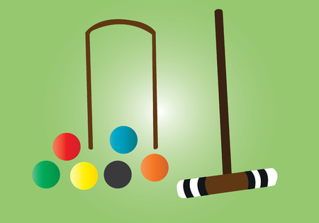 a samples of balls used in croquet game,