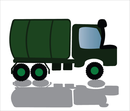 A military truck ready for service
