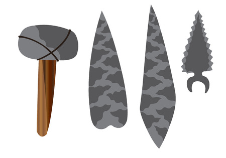 a wide array of stone age tools