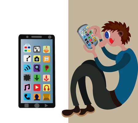 a junior uses a smartphone