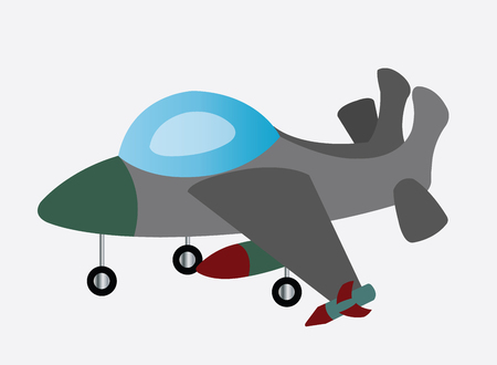 a fighter jet ready to fly off Illustration