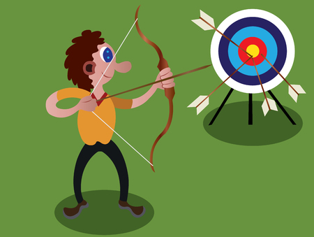 An archer Practicing some shooting techniques