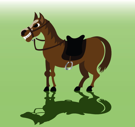 A horse eager to carry some luggage, Illustration