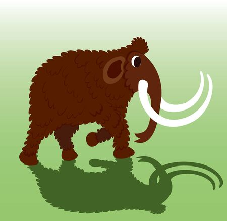 A woolly Mammoth Stock Illustratie