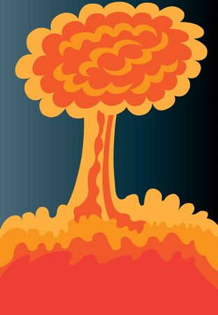The Mushroom Cloud of an atomic Bomb