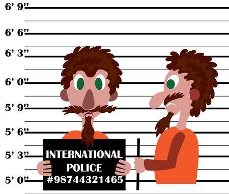 Condamné pour plusieurs accusations d'infractions pénales Vecteurs