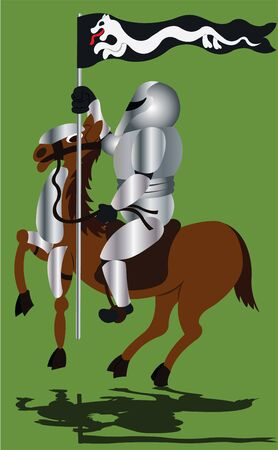 Medieval Knight in Shining Armor Illustration