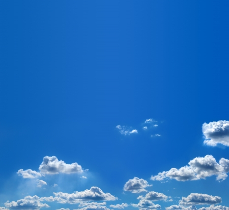 White and fuzzy clouds in the blue sky Stock Photo - 14692154