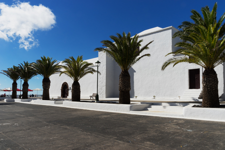 """Already in the year 1404 the church of Rubicon had been the first seat of the bishop canary. Then the """"Cathedral of San Marcial del Rubicon"""" stood here in Earlier days, but it was demolished by pirates in the 16th century. 1733 HAS BEEN rebuilt the church"""