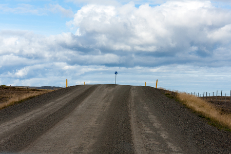 snows: The 80km route 643, was always in poor condition, prone to land lips and impassable from autumns first snows until road maintenance crews break through again in late spring. Stock Photo