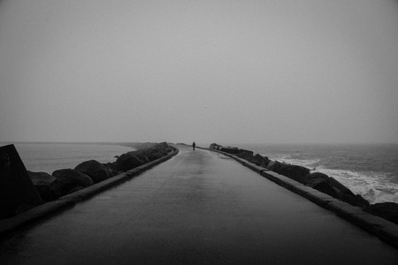 moody: Moody walk on the south pier in IJmuiden