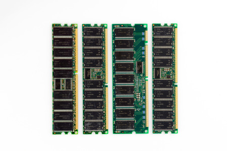 cmos: Electronic module of ram memory. Stock Photo