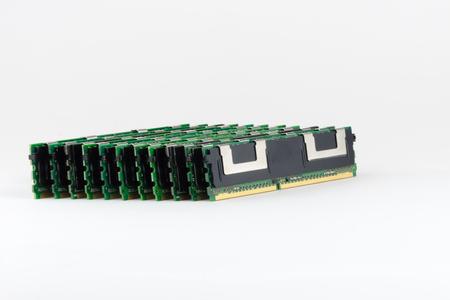 megabyte: Electronic module of ram memory. Stock Photo