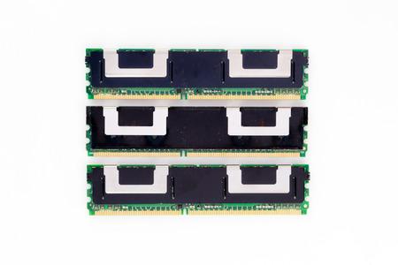 Electronic module of ram memory. Stock Photo