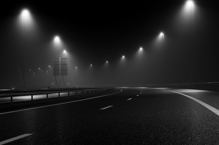 guardrail: A new highway near Amsterdam, perfect for pictures Stock Photo