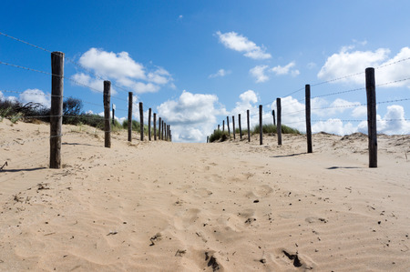 The only way to the beach is over the dunes