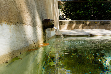crystal clear: Ancient fountain with crystal clear water straight from the mountains, cool!